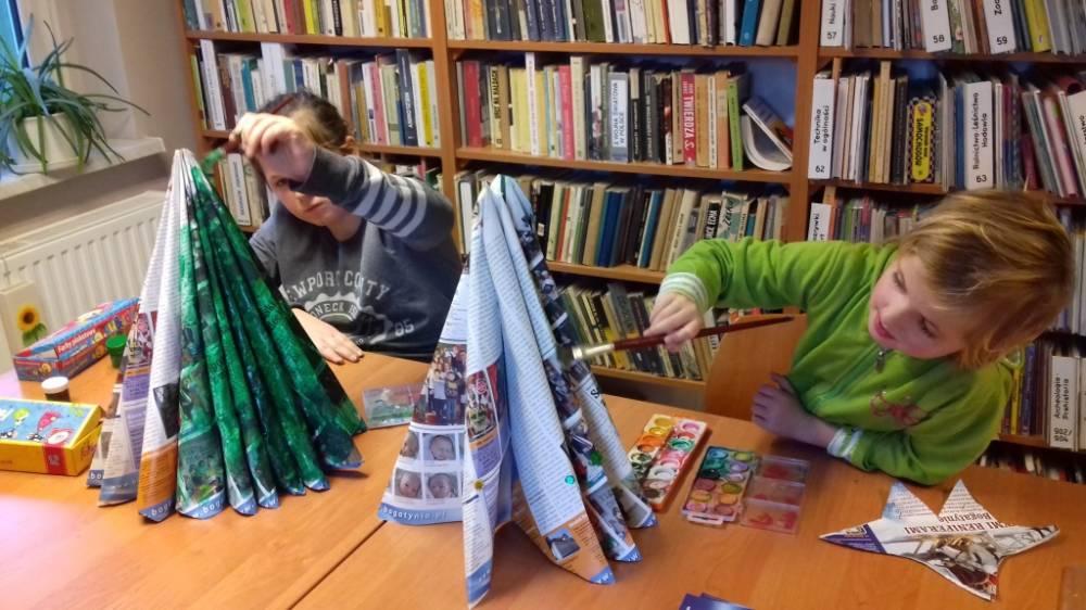 Warsztaty plastycze w bibliotece